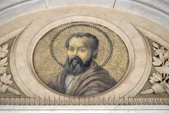 Saint Philip the Apostle. Mosaic in the basilica of Saint Paul Outside the Walls, Rome, Italy Royalty Free Stock Photography
