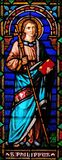 Saint Philip the Apostle. Stained glass window in the San Michele in Foro church in Lucca, Tuscany, Italy Stock Images