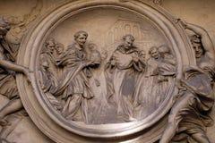 Saint Philip Benizi refuses the papal tiara. San Marcello al Corso church in Rome, Italy Stock Photos