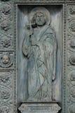 Saint Philip. Detail of door of Saint Vincent de Paul church, Paris Royalty Free Stock Photo