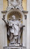 Saint Philip Neri. Facade of Santa Maria Maddalena Church in Rome, Italy Royalty Free Stock Photos
