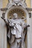 Saint Philip Neri. Facade of Santa Maria Maddalena Church in Rome, Italy Royalty Free Stock Image