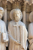 Saint Philip, Notre Dame Cathedral, Paris. Portal of the Virgin Stock Photo