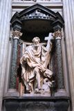 Saint Philip. ROME, ITALY - APRIL 8, 2012: Interior view of Lateran Basilica with Saint Philip statue in Rome. Famous baroque landmark was first consecrated in Royalty Free Stock Photo