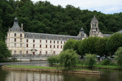 The Saint-Pierre abbey was built near the Dronne river in Brantome, France. Stock Photography