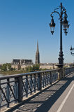 Saint Pierre bridge at Bordeaux, France Royalty Free Stock Photo
