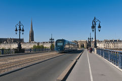 Saint Pierre bridge at Bordeaux, France Royalty Free Stock Photos