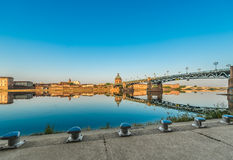 The Saint-Pierre bridge in Toulouse, France. Stock Photography