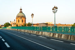 The Saint-Pierre bridge in Toulouse, France. Royalty Free Stock Photography