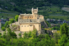 Saint-Pierre Castello in Aosta Valley Stock Photos