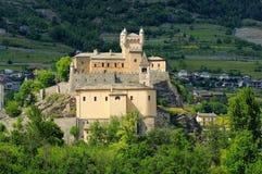 Saint Pierre Castello i Aosta Valley Arkivfoton