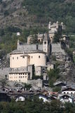Saint-Pierre Castle ( Aosta Valley Italy ) Royalty Free Stock Photography