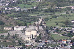 Saint-Pierre Castle ( Aosta Valley Italy ) Stock Photos
