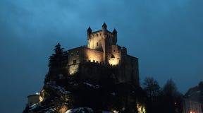 Saint-Pierre Castle At Night Stock Image