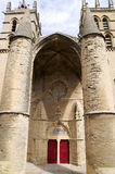 Saint Pierre Cathedral entrance. Saint Pierre cathedral , Montpelier, France. Entrance with Towers Stock Photography