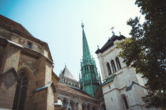 Saint Pierre Cathedral in Geneva, Switzerland. Swi Stock Photos