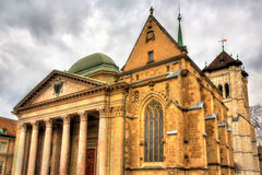 Saint Pierre Cathedral of Geneve Royalty Free Stock Images