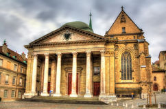 Saint Pierre Cathedral of Geneve. In Switzerland Royalty Free Stock Photo
