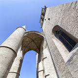 Saint Pierre cathedral in a low angle view in Montpellier Royalty Free Stock Photo