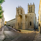 Saint Pierre cathedral in Montpellier. Royalty Free Stock Image