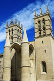 Saint Pierre Cathedral , Montpellier, France. University of Medicine and  St Pierre Cathedral, Montpellier, south of France Royalty Free Stock Photo