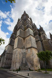 Saint Pierre Cathedral in Saintes tower. Main tower of the Saint Pierre Cathedral in Saintes, France Stock Image