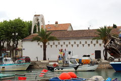 Saint Pierre Church in Le Grau-du-Roi, Camargue, France stock image