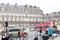 Saint Pierre cuadrado del lugar en Nantes, Francia Fotos de archivo libres de regalías