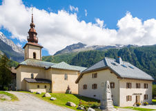 Saint Pierre d Argentiere della chiesa immagini stock libere da diritti