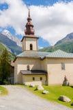 Saint Pierre d Argentiere della chiesa Fotografia Stock Libera da Diritti