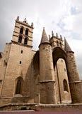 Saint Pierre de cathédrale, Montpellier image libre de droits