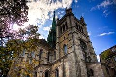 Saint Pierre de la catedral en Ginebra Imagen de archivo libre de regalías