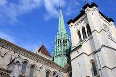 Saint Pierre de la catedral en Ginebra, Suiza Imágenes de archivo libres de regalías