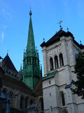 Saint Pierre, Geneve ( Suisse ). Saint Pierre Cathedral in Geneva, Switzerland Royalty Free Stock Images
