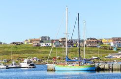 Boats fishers at Saint-Pierre Island Royalty Free Stock Photography
