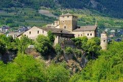 Saint-Pierre Sarriod de la Tour in Aosta Valley Stock Photo