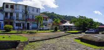 Saint Pierre town, Martinique island, Fre stock photography