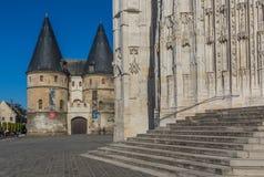 Saint Pierredomkyrkan i Beauvais, Frankrike fotografering för bildbyråer