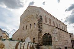 Saint PierrehjälpNonnains kyrka, Metz, Lorraine i Frankrike Arkivbilder