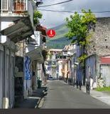 Saint Pierrestad op 2 Januari, 2017, het Franse eiland van Martinique, Royalty-vrije Stock Foto's