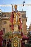 Saint Pius V教皇雕象 瓦莱塔 马耳他 免版税库存照片
