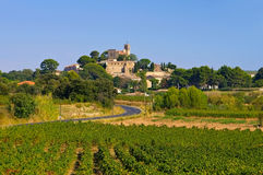Saint-Pons-de-Mauchiens a town in southern France Stock Photography