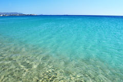 Saint Prokopios beach Naxos Greece stock image