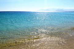 Landscape of Saint Prokopios beach Naxos island Cyclades Greece royalty free stock photo