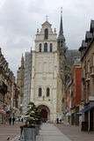 Saint-Quentin, France. Street in Saint Quentin, France Royalty Free Stock Photo