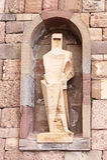 Saint Ramon Llull Statue, Montserrat, Spain Stock Photos