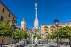 Saint Raphael Triumph statue in Cordoba, Spain. Stock Image