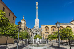 Saint Raphael Triumph statue in Cordoba, Spain. Stock Photo