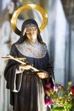 Saint Rita de Cascia (Margherita Lotti carregada 1381 - 22 de maio de 1457) imagens de stock royalty free