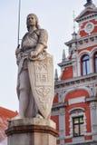 Saint Roland Riga old town Stock Image